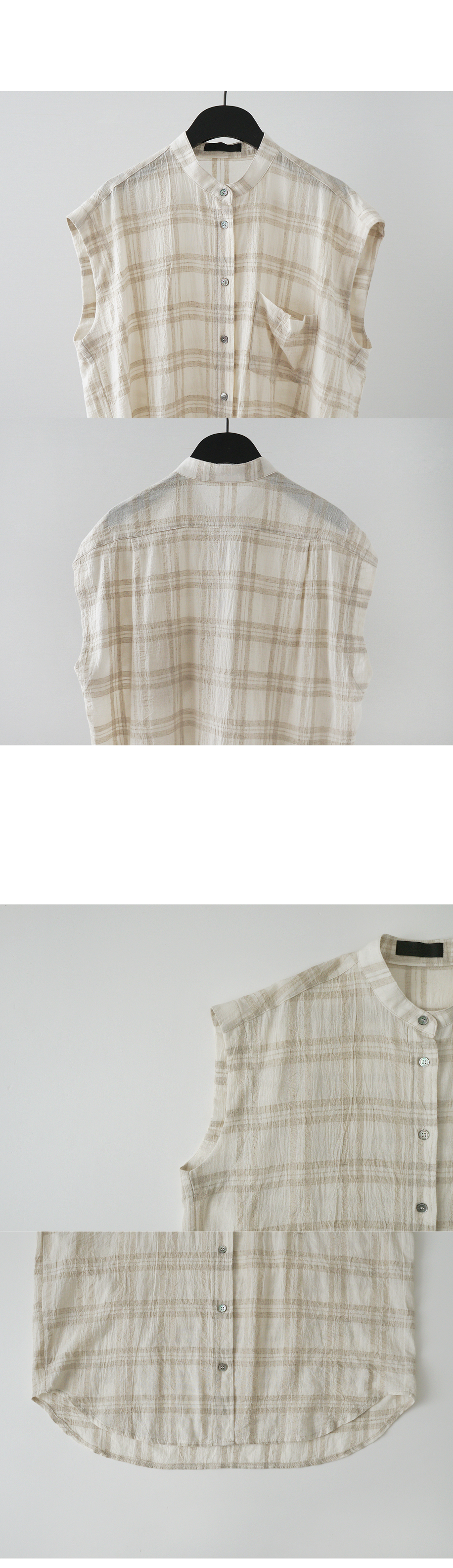 plaid non sleeve shirts