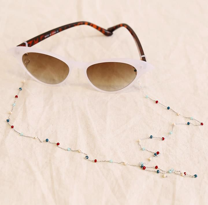 TROY BEADS CHAIN GLASSES STRAP
