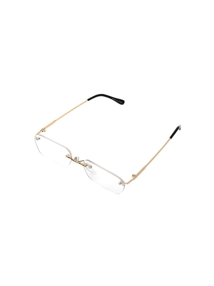 big square rimlesssunglasses