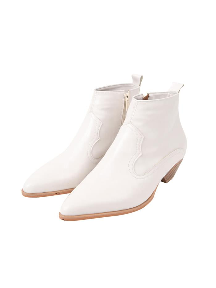 slim western boots (2 color)
