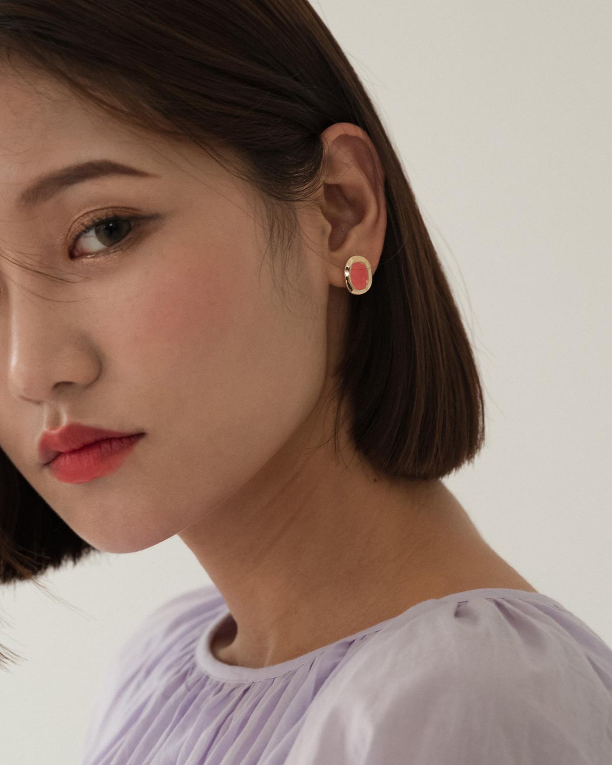 marble mood earring
