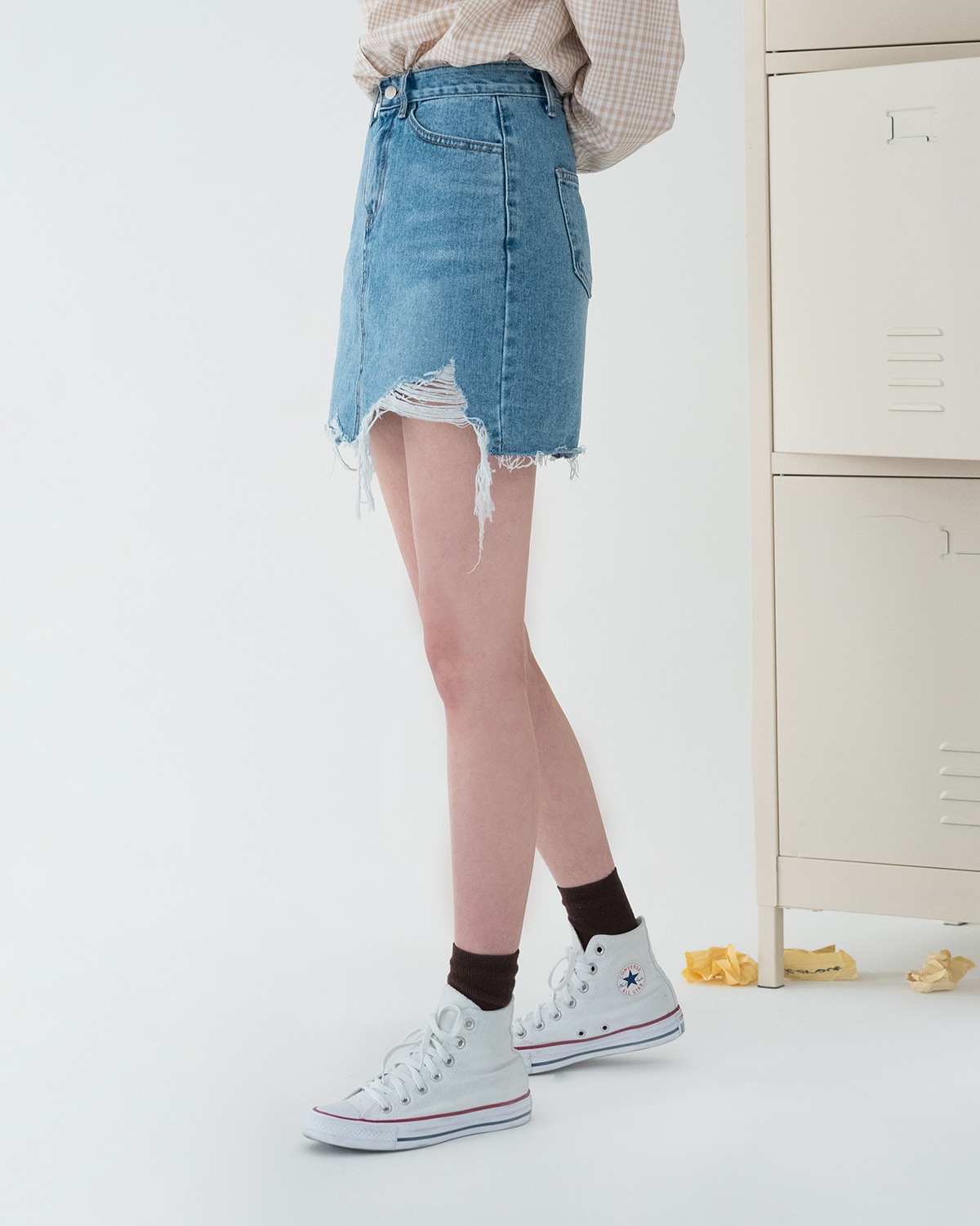 unique denim short skirt