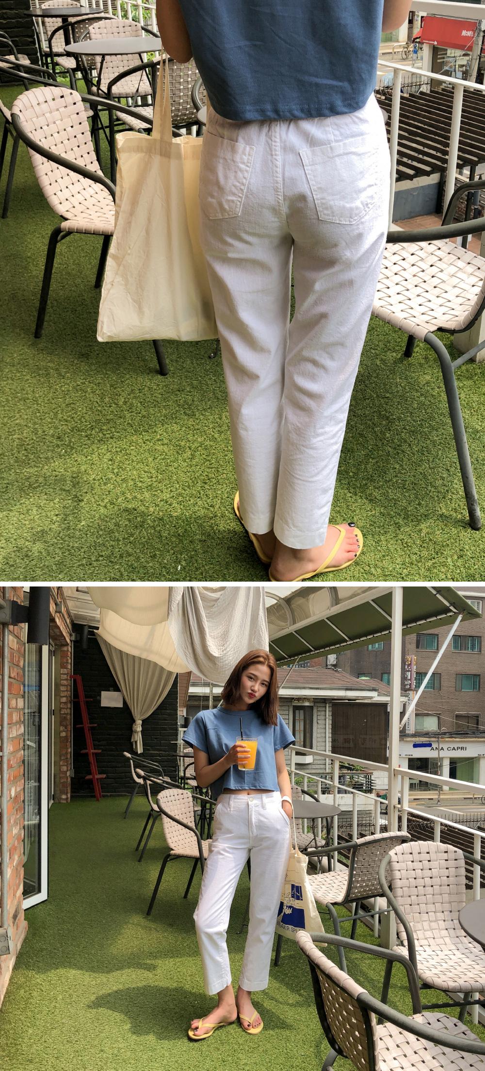 back banding cotton pants