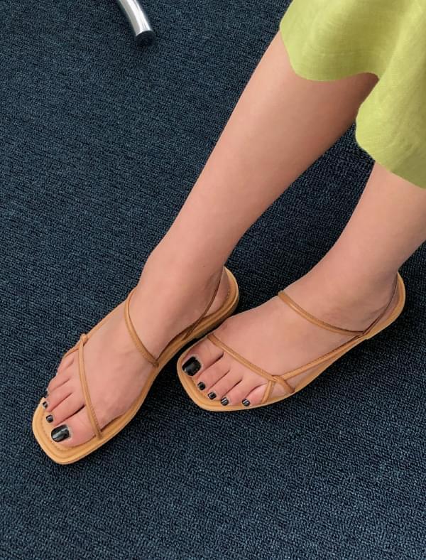 3 color soft strap sandal