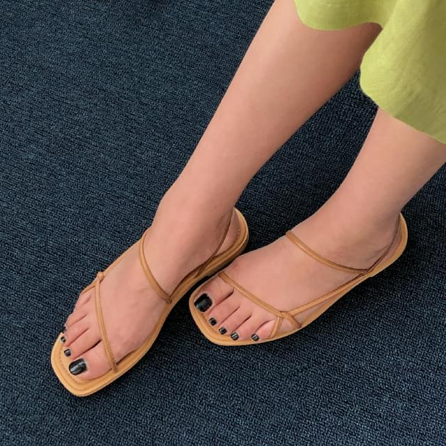 3 color soft strap sandal slim strap slingback sandals