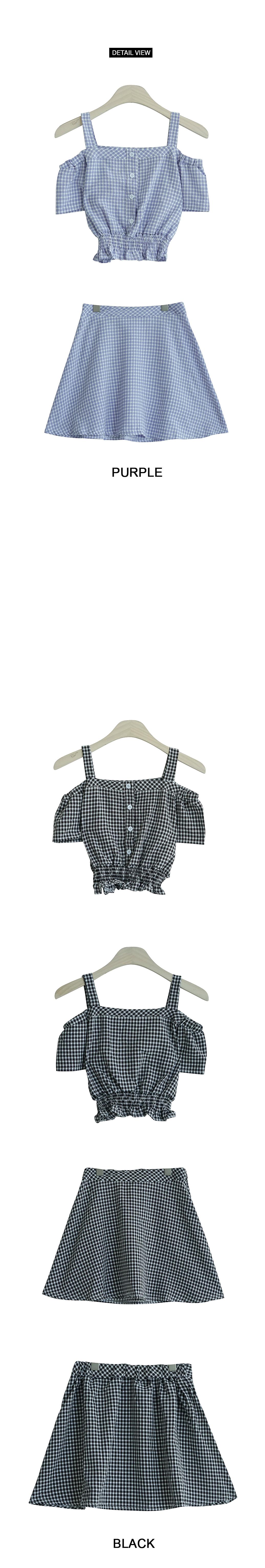 Check-off shoulder dress