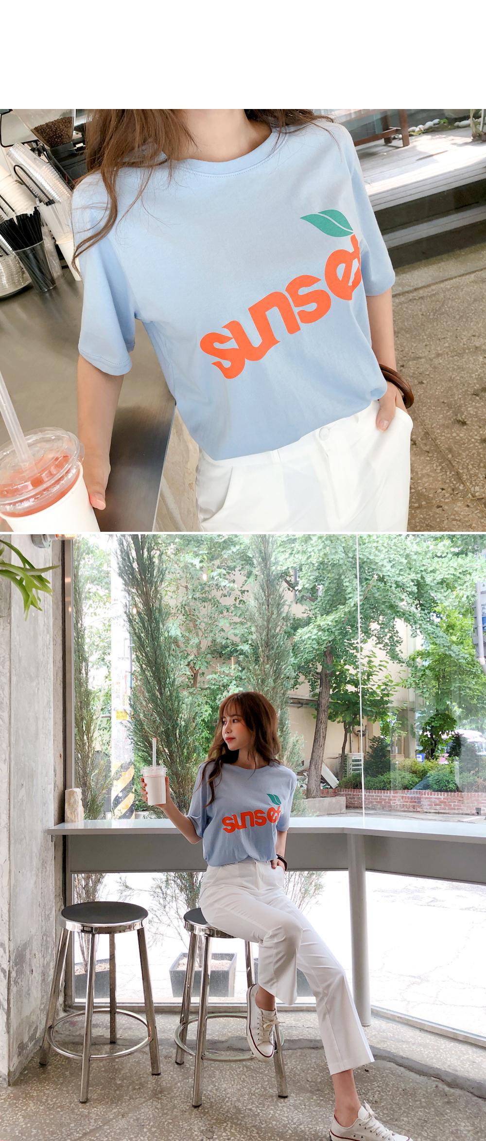 Sunset Lettering T-shirt