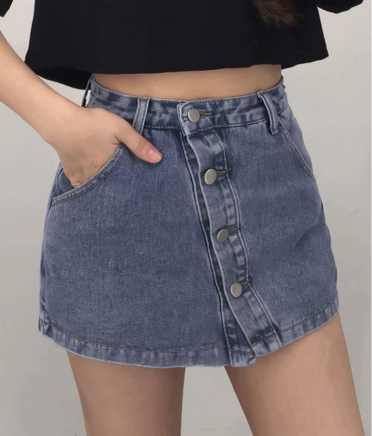 Uncut button short pants