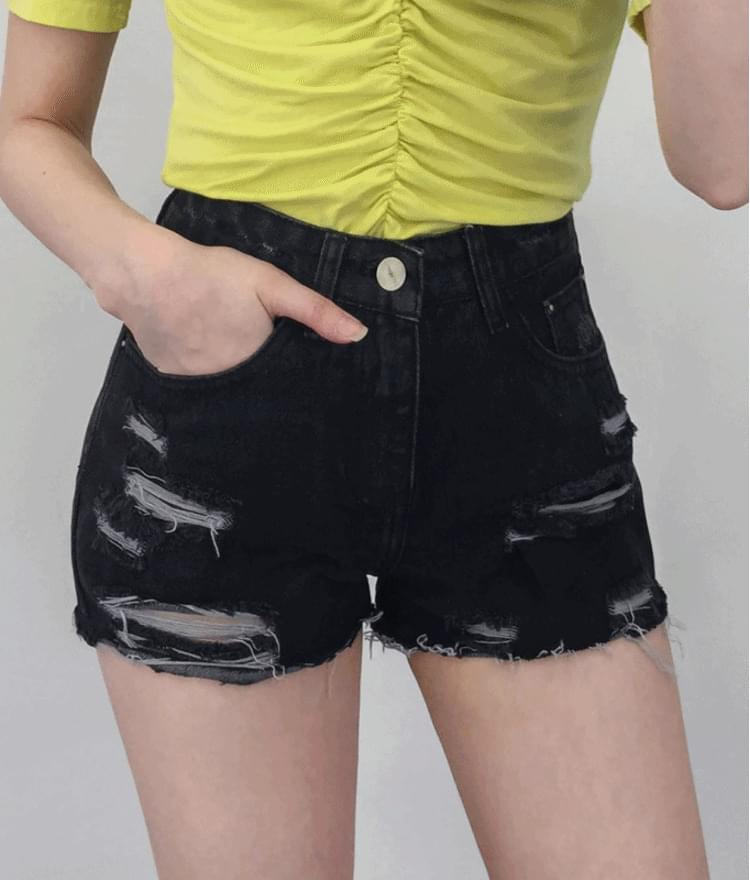 704 Damage Cutting Shorts