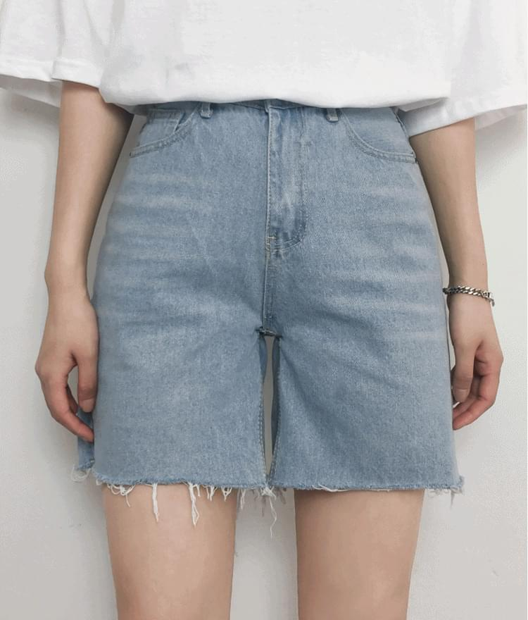 High waist 5 pcs cut short pants