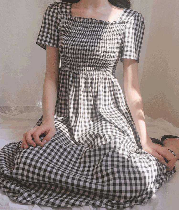 X-Check Smoke Dress