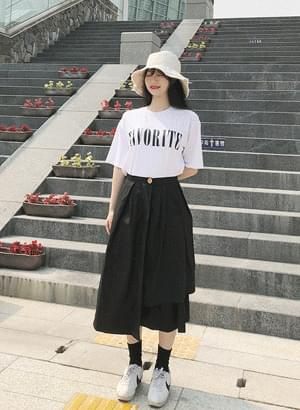 A line long skirt flare and uneven