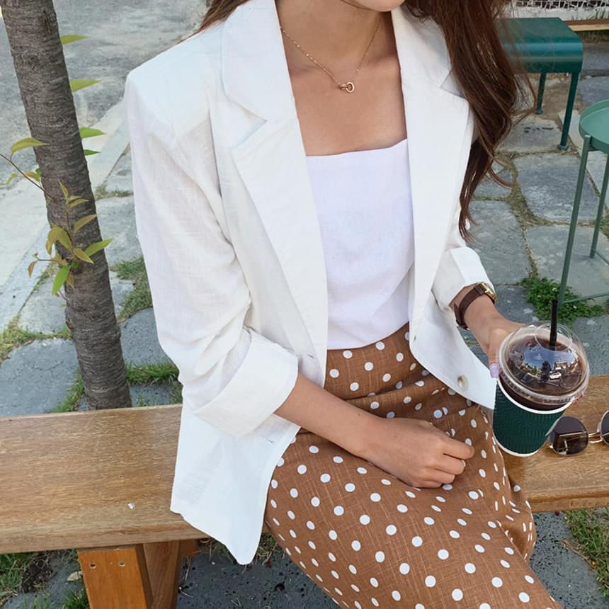 Ronchin linen basic jacket
