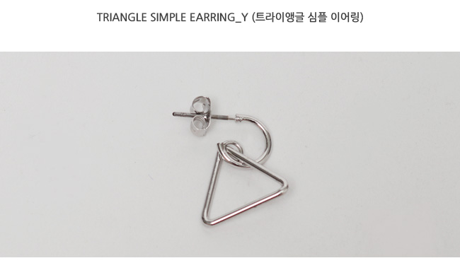 Triangle simple earring_Y