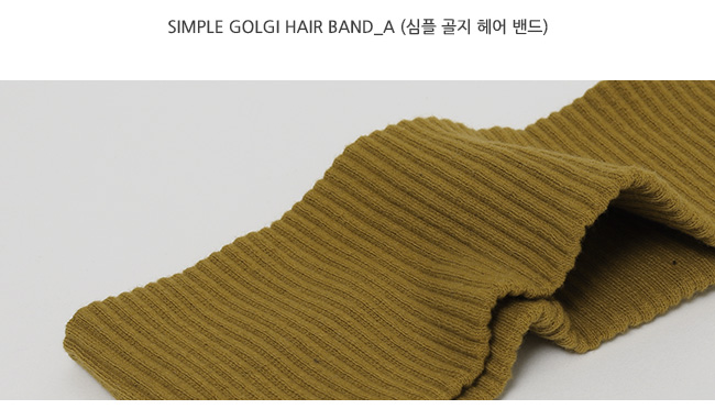 Simple golgi hair band_A