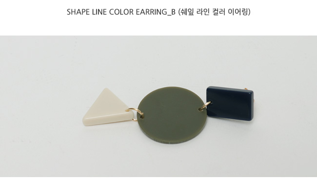 Shape line color earring_B
