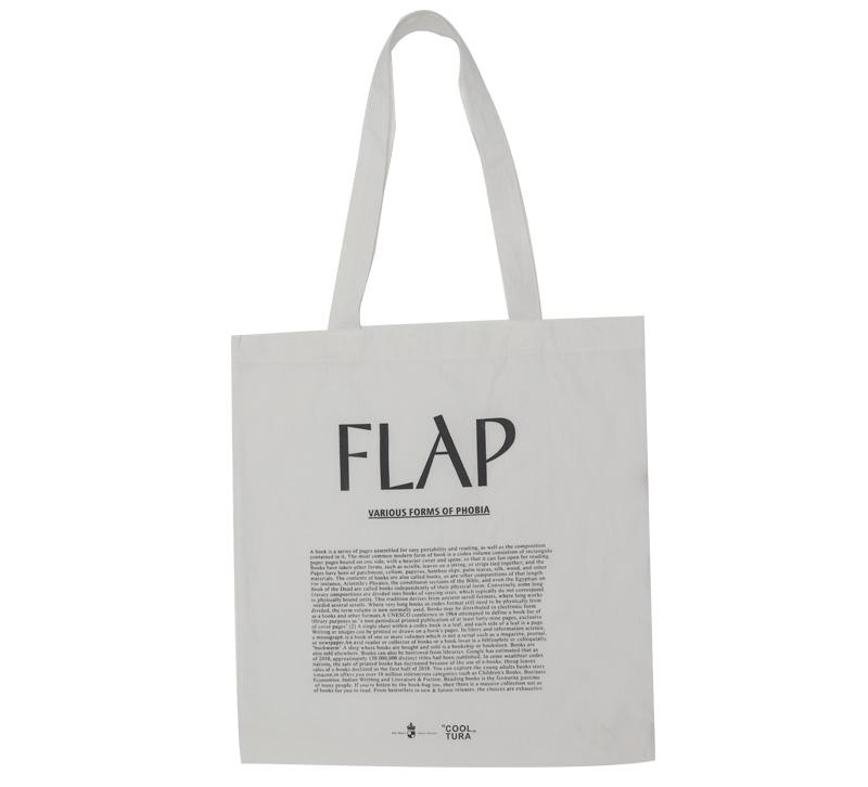 Flap cotton lettering bag_Y