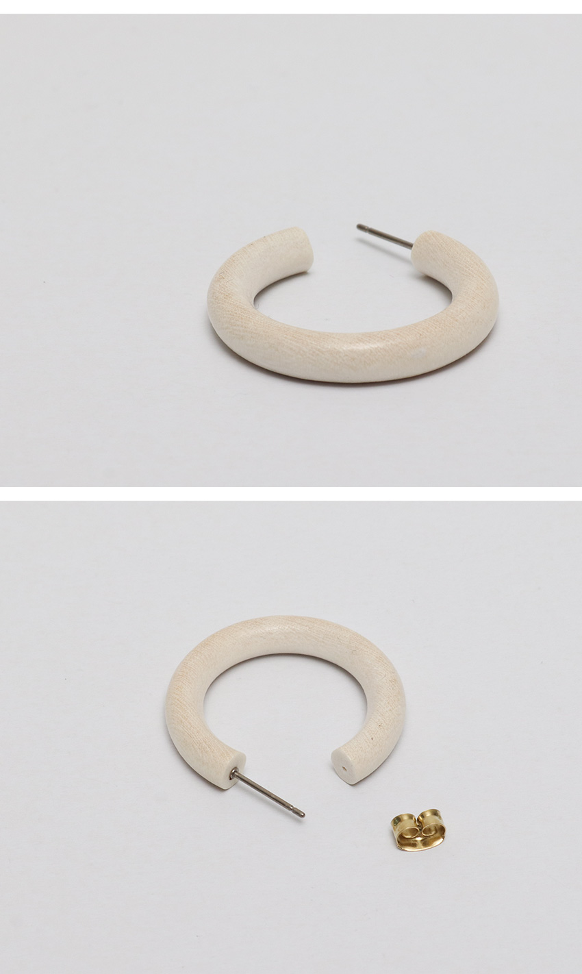 Wood simple earring_W
