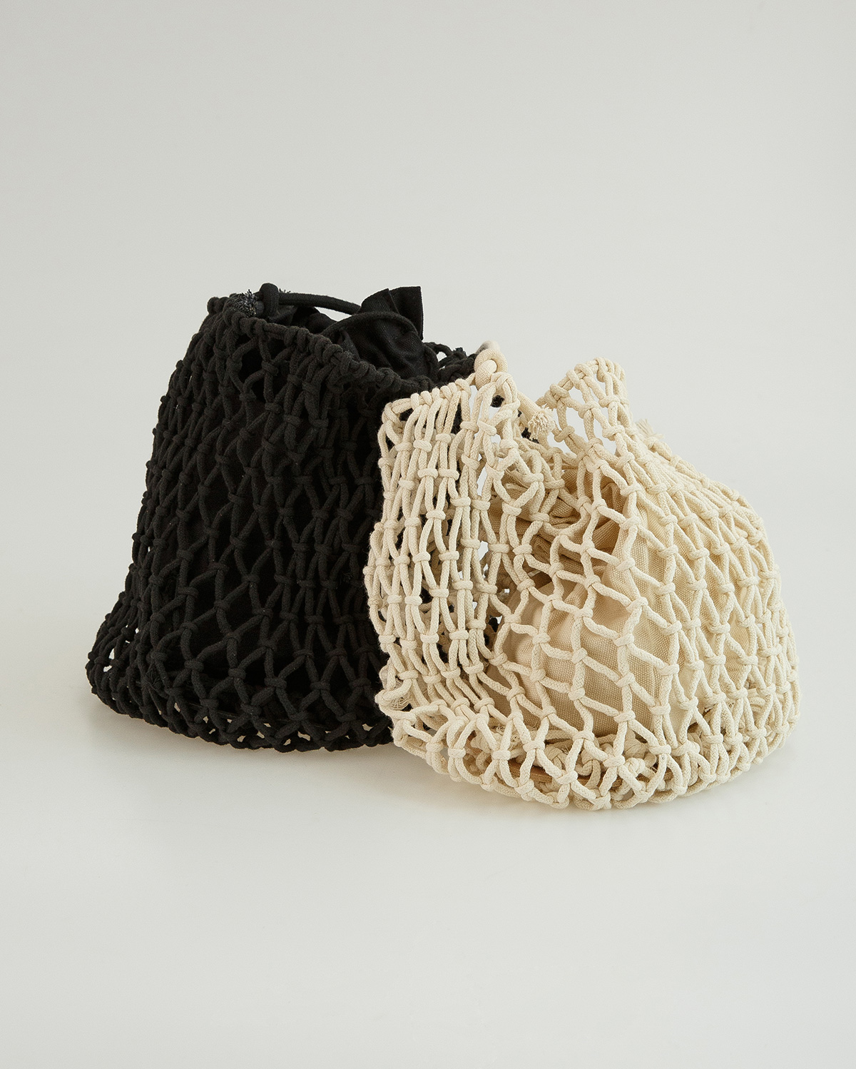 2 color pouch set net bag