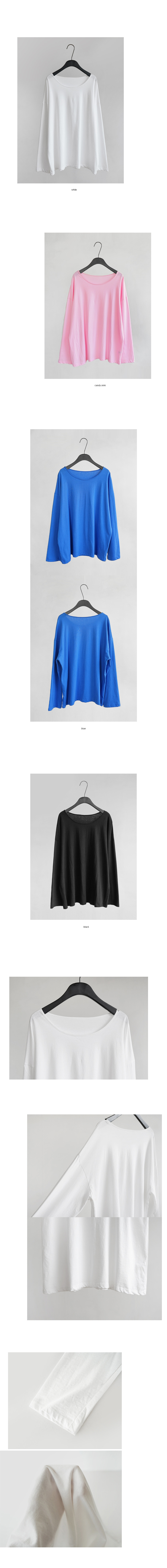 over-fit soft round neck tee (4colors)