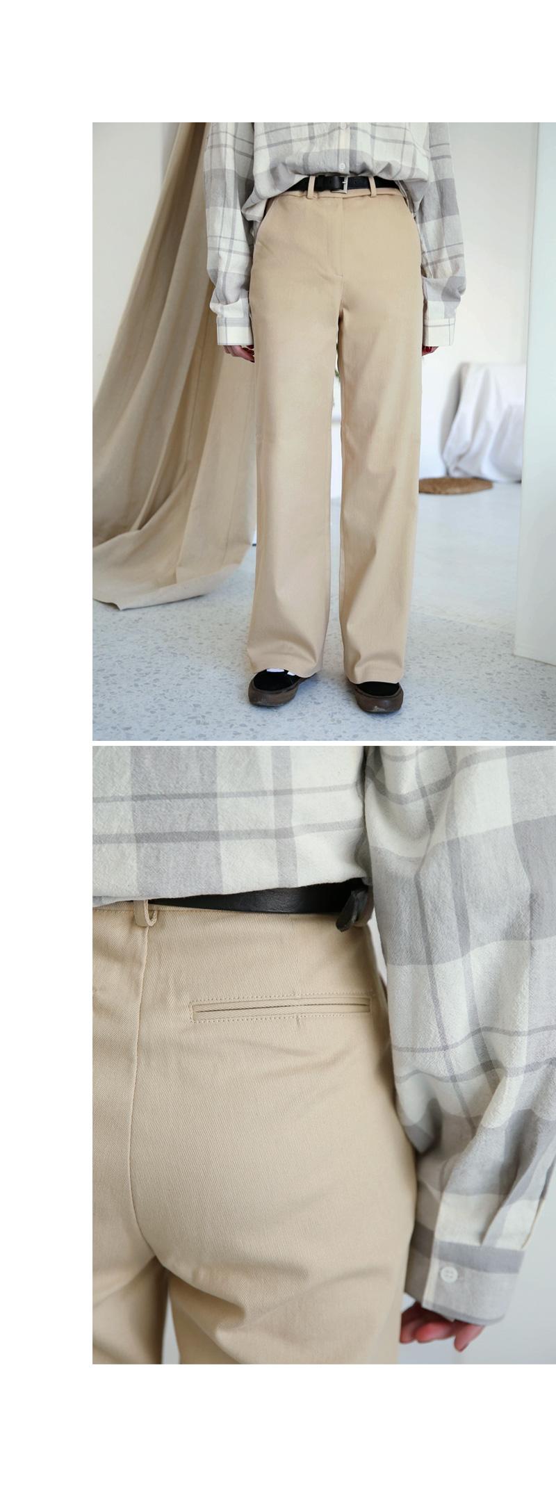 Loose-fitting cotton Slacks