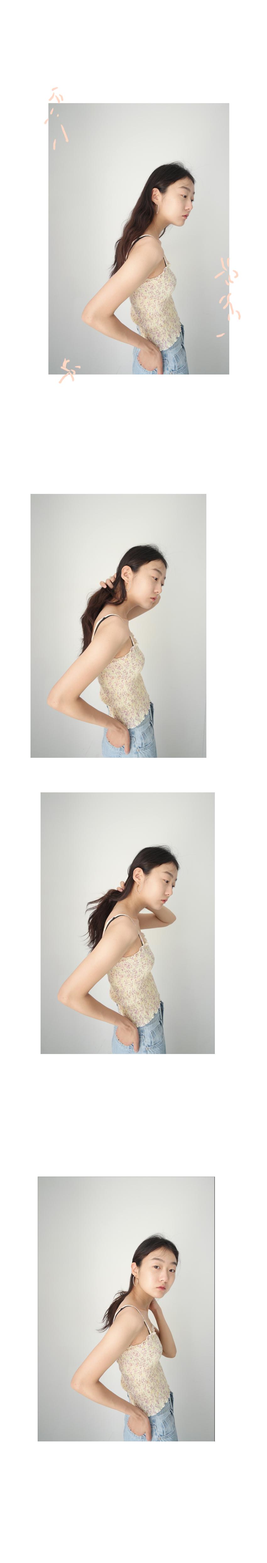 slim flower sleeveless