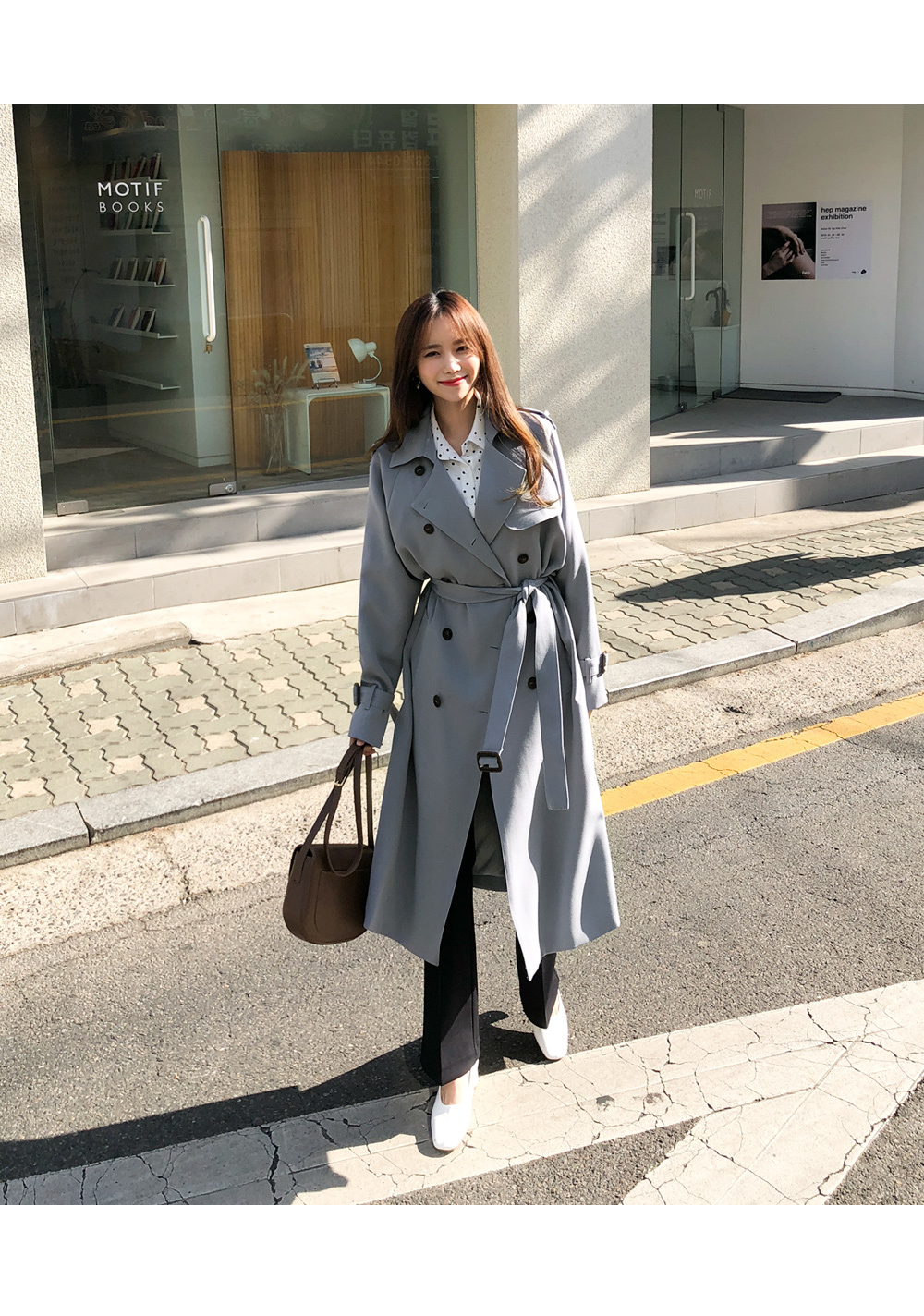 Soft jay trench coat