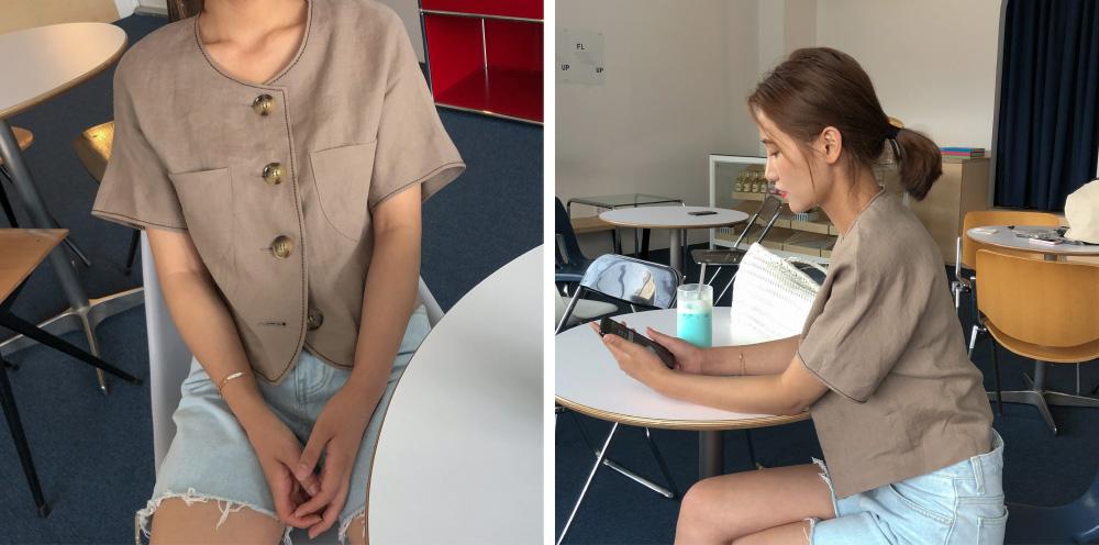natural cutting 4-length shorts
