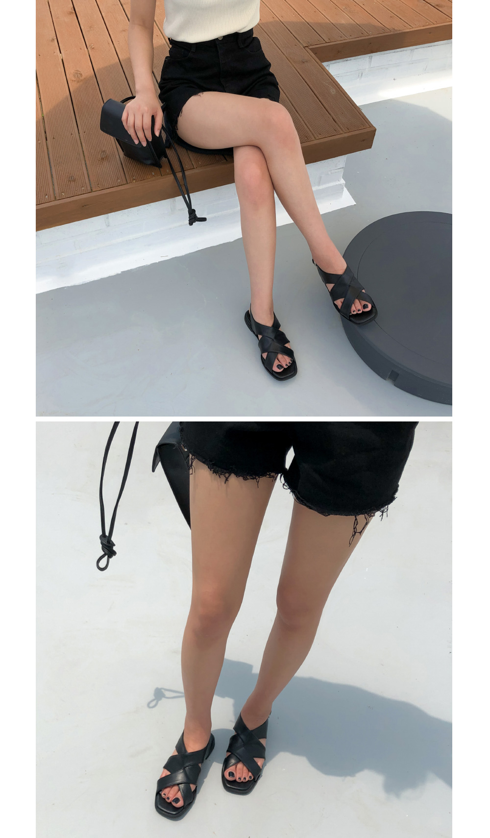 trendy mood x-strap sandal