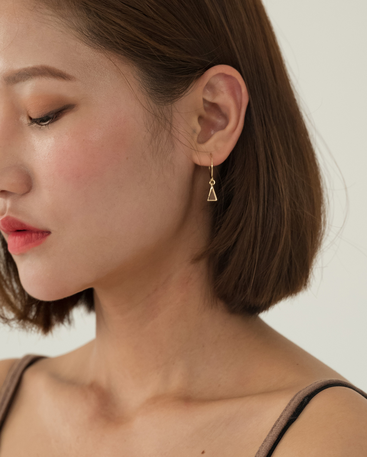 triangle pendant earring