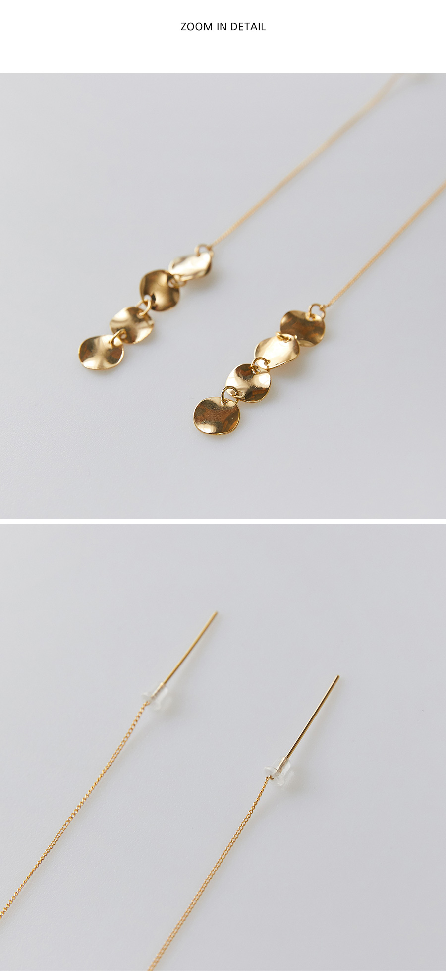 bright gold earring