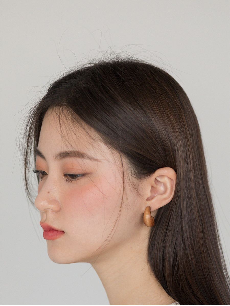 natural wood earring