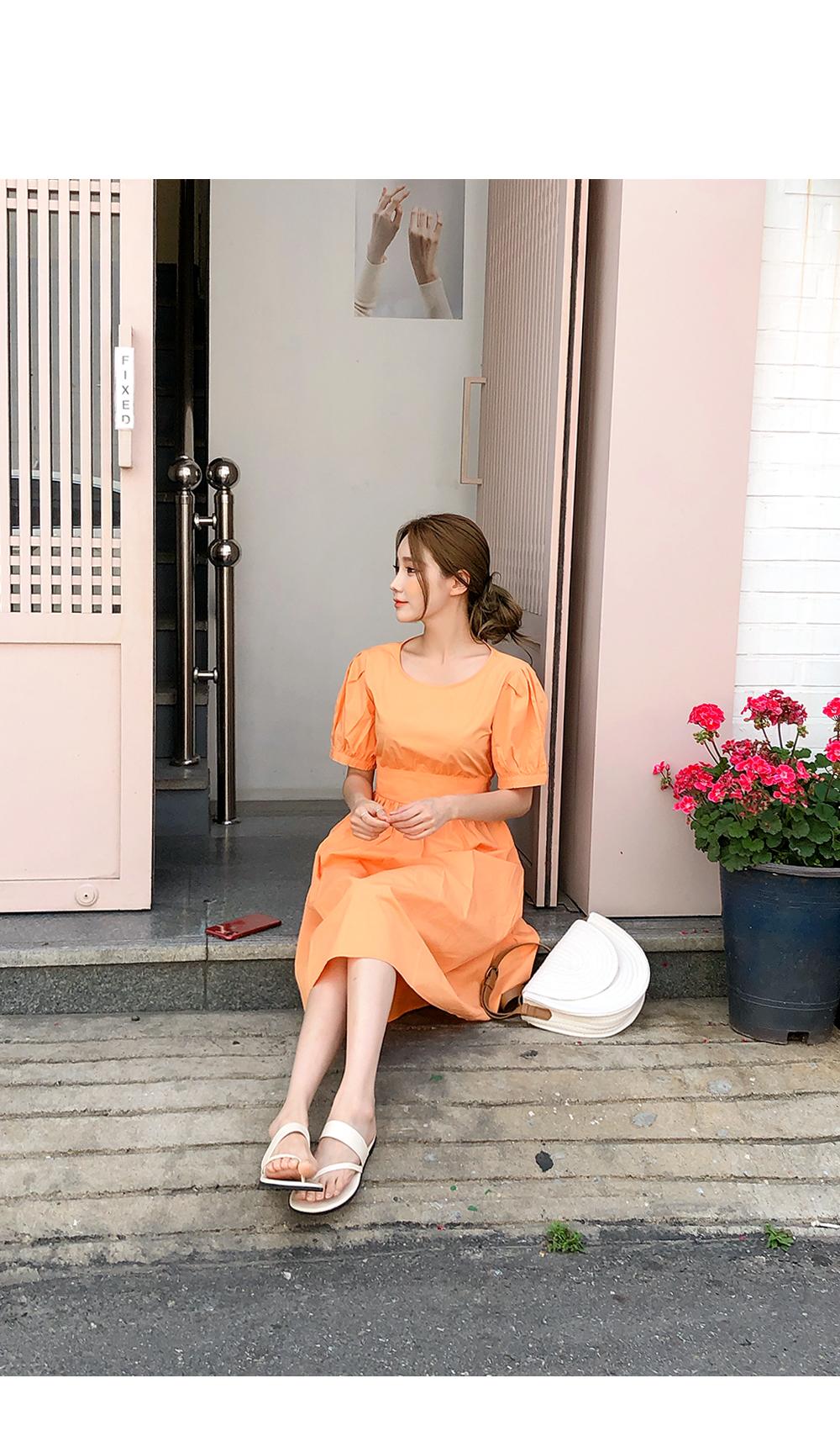 Warm Orange Incense Dress