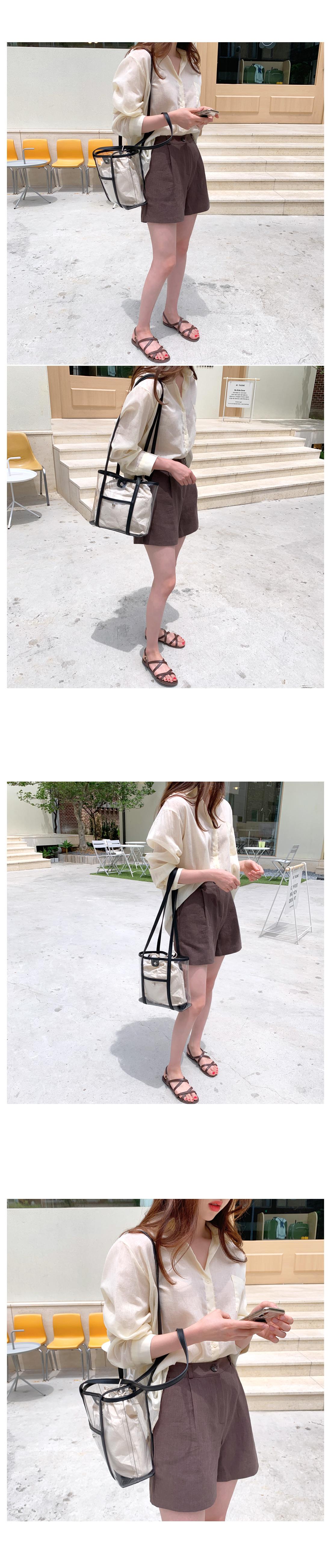 Halls Transparent Shoulder Bag