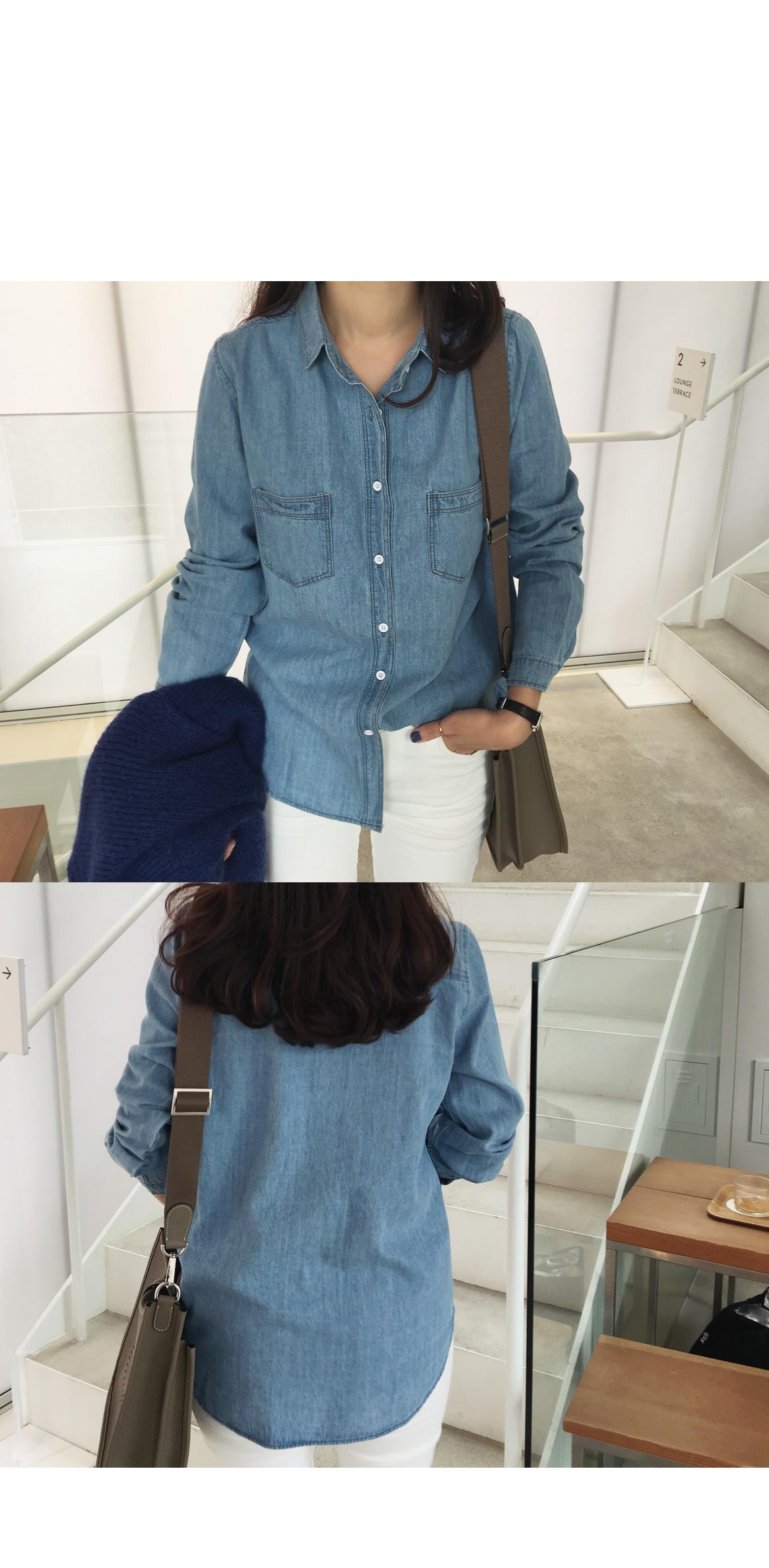 Beautifully clean denim shirt