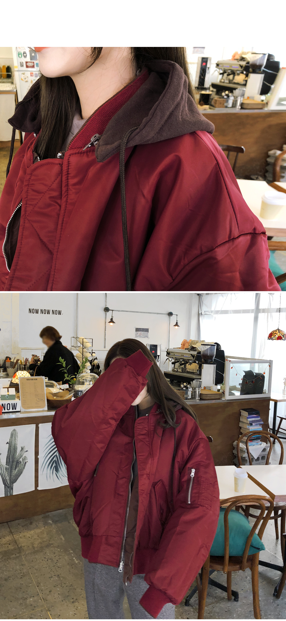 Two-sided hood jumper feeling different every day