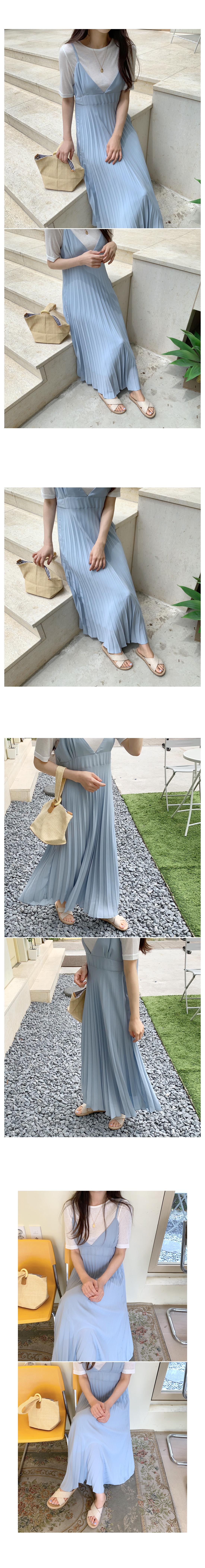 Maxi Pleat Nash Long Dress