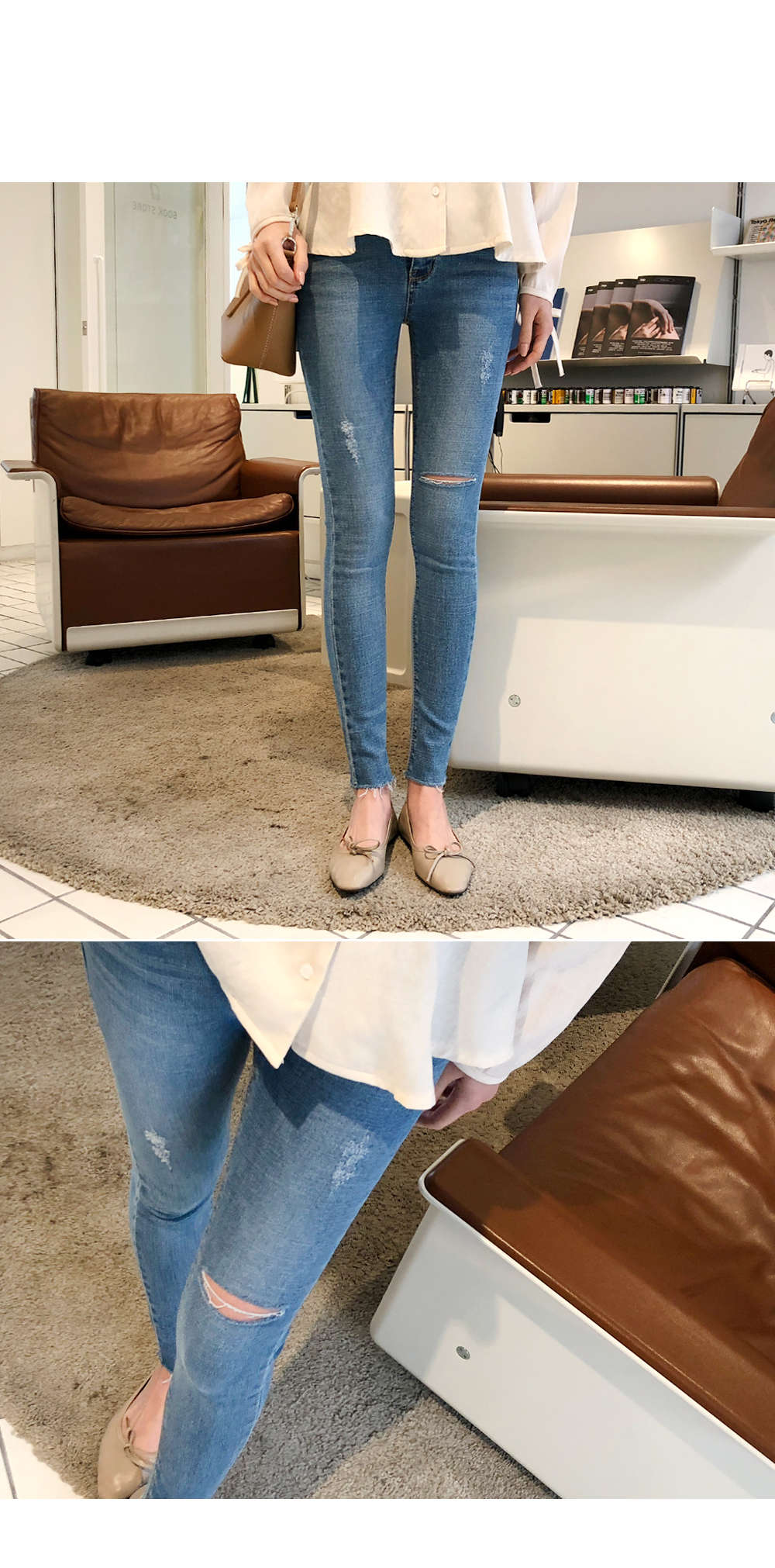 Ricotta denim pants