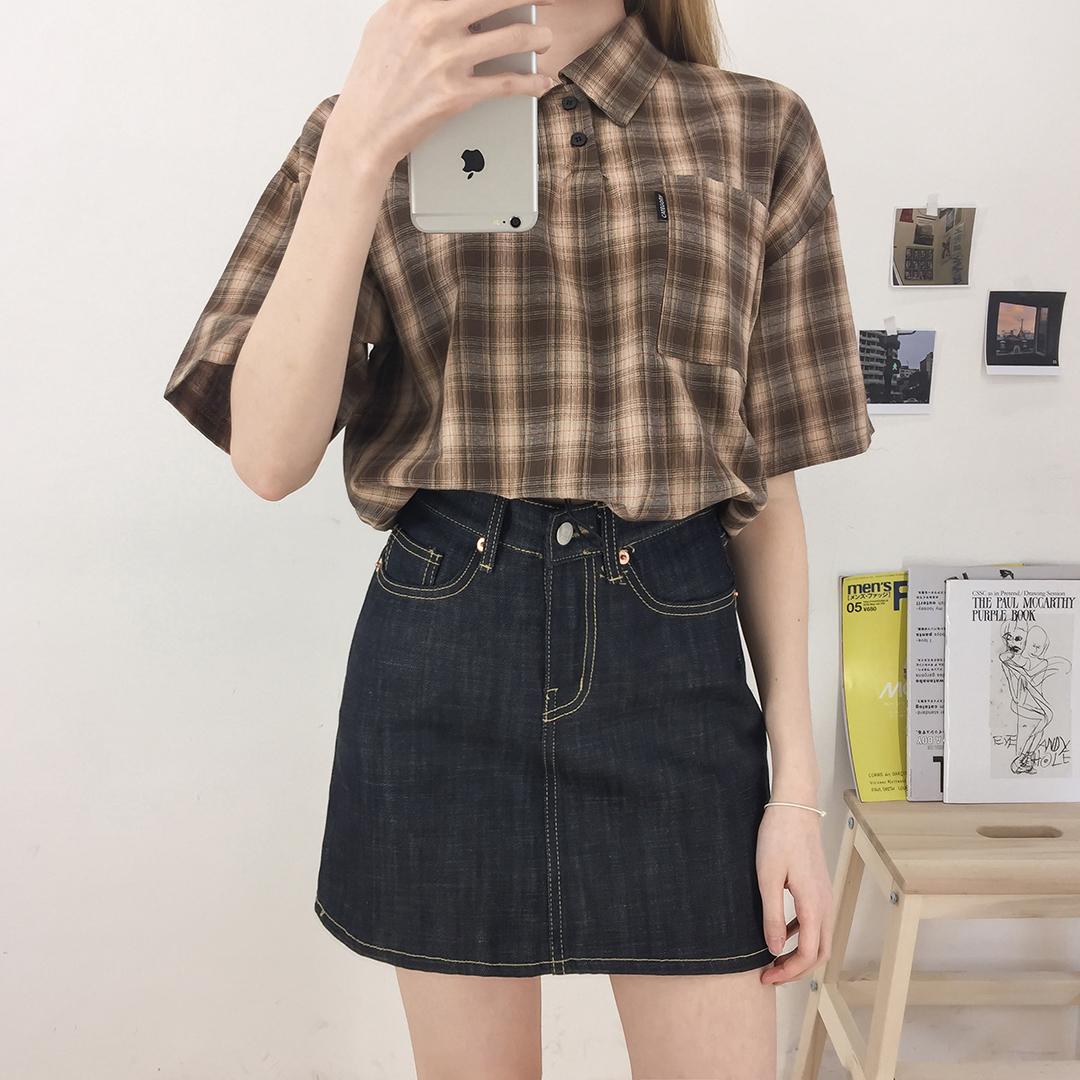 Chexstring Crop Shirt
