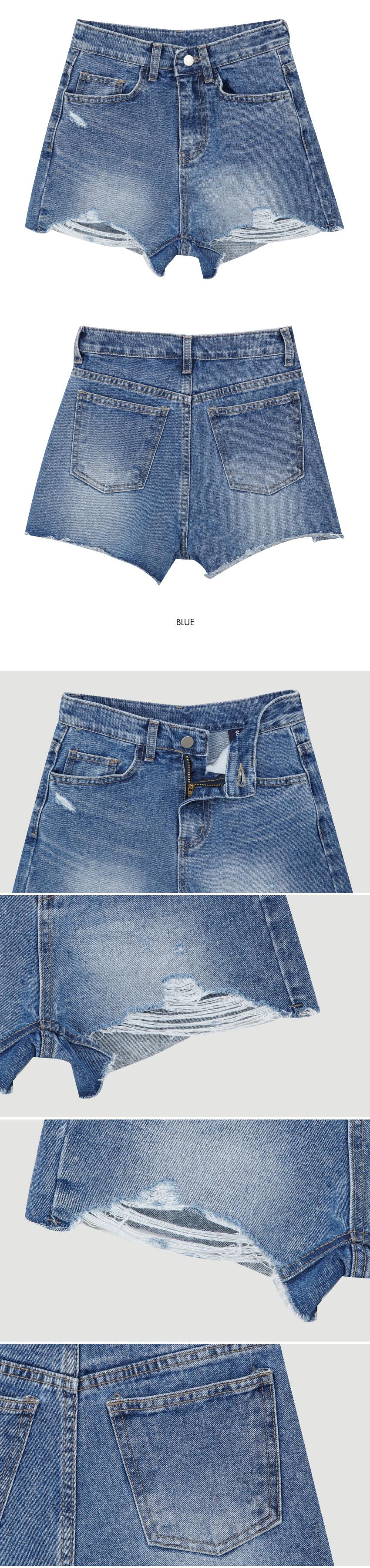 167 damage short pants