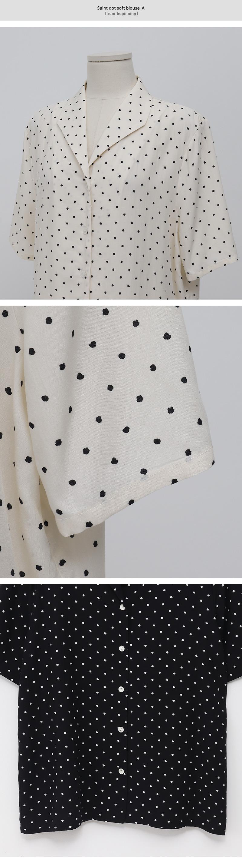Saint dot soft blouse_A