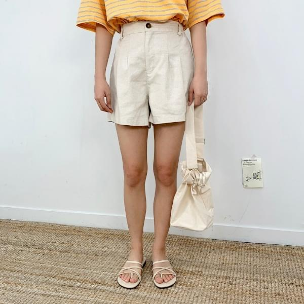 Beige Cotton Short P