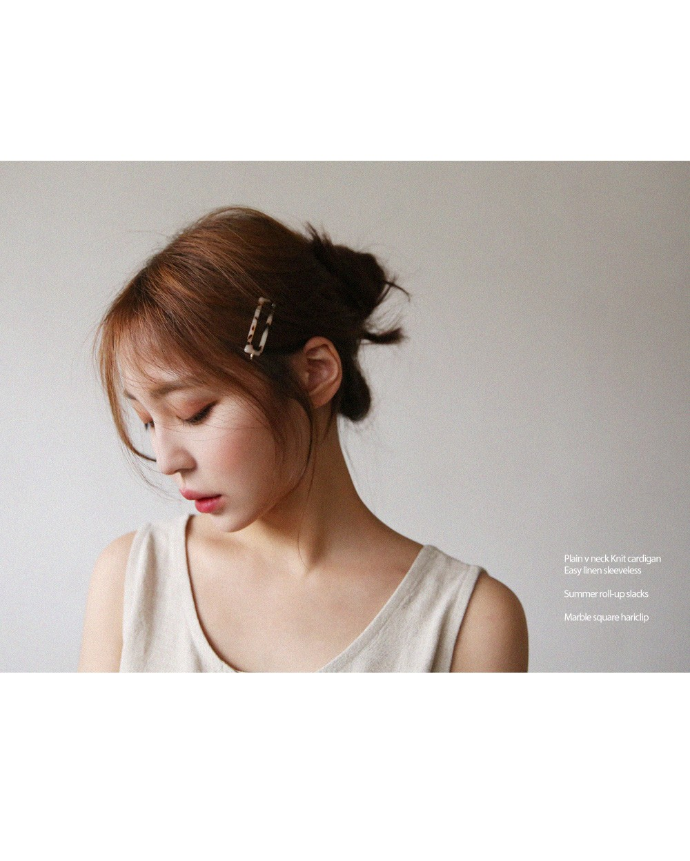 Marble Square Hairpin