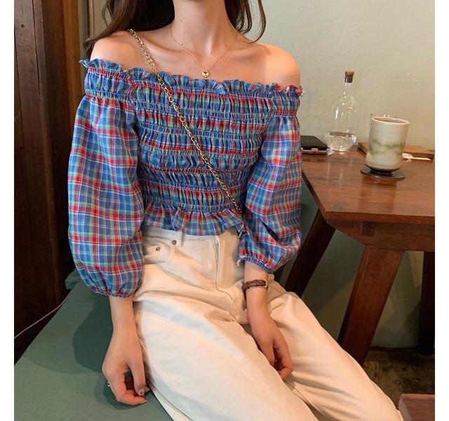 Blendy off shoulder blouse