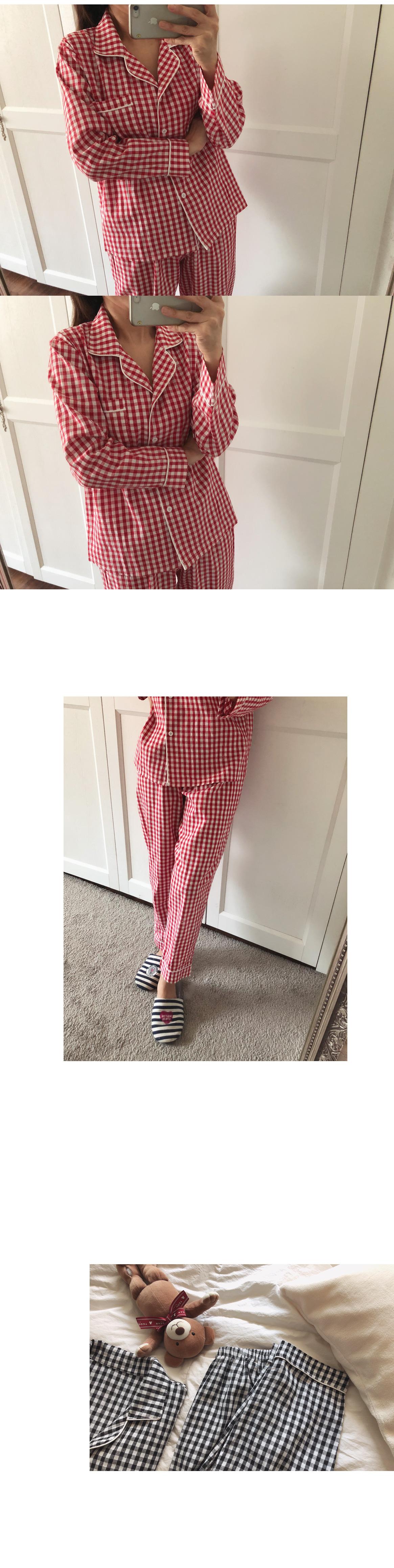 Pretty check pajamas