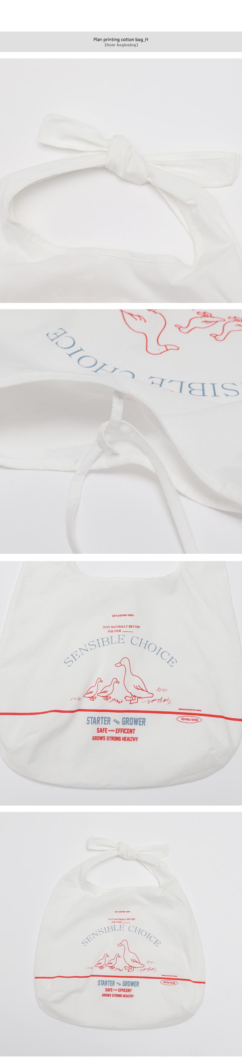 Plan printing cotton bag_H