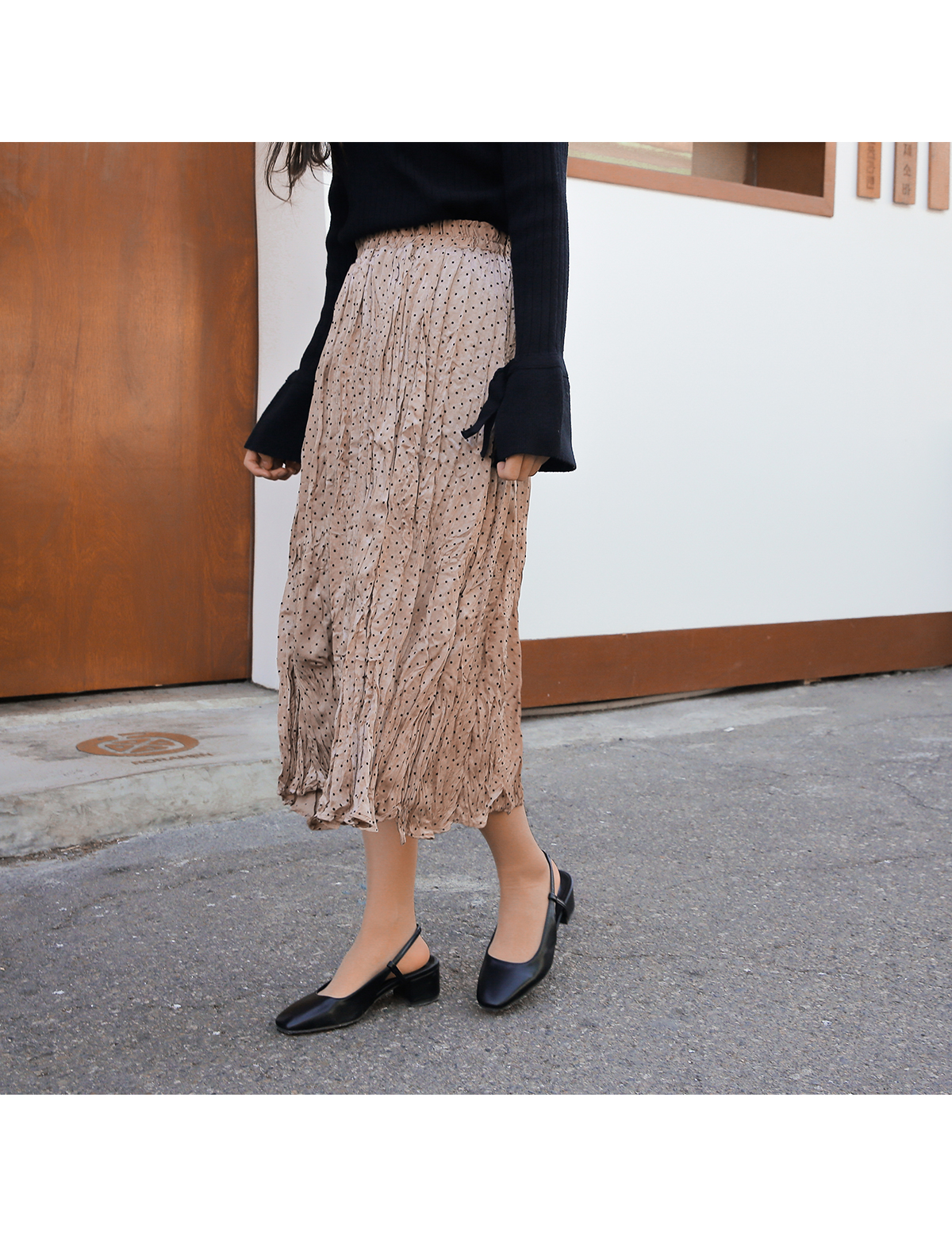 Dot-cut skirt