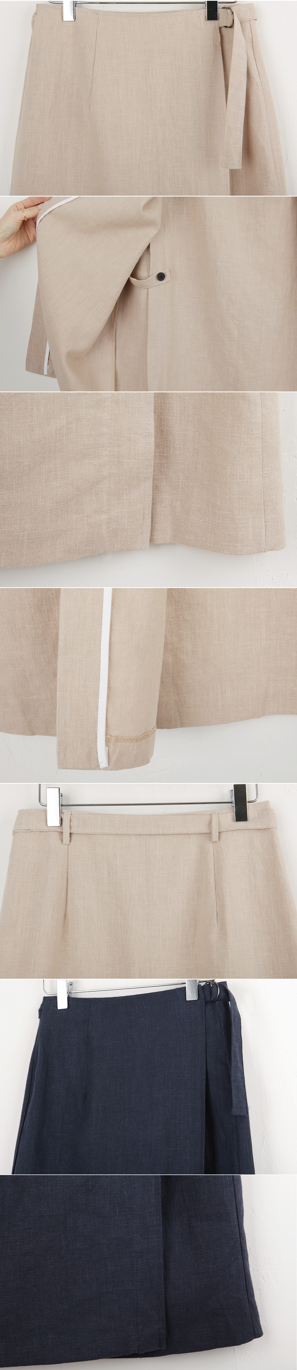 Wrapping lap skirt
