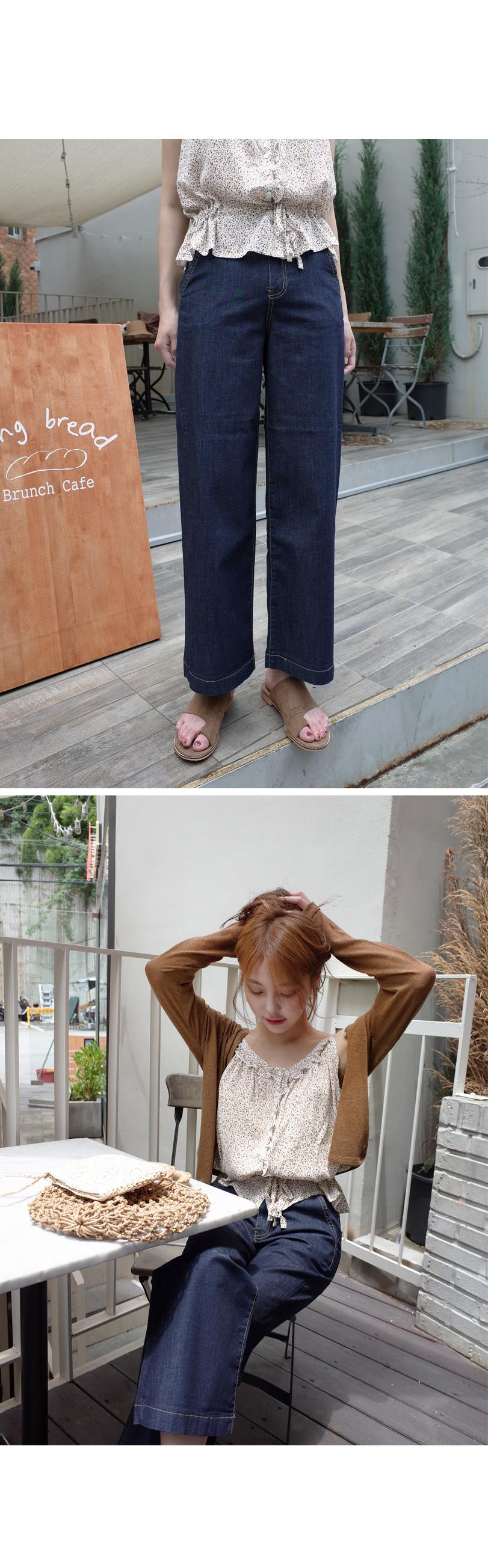 Soft texture denim pants