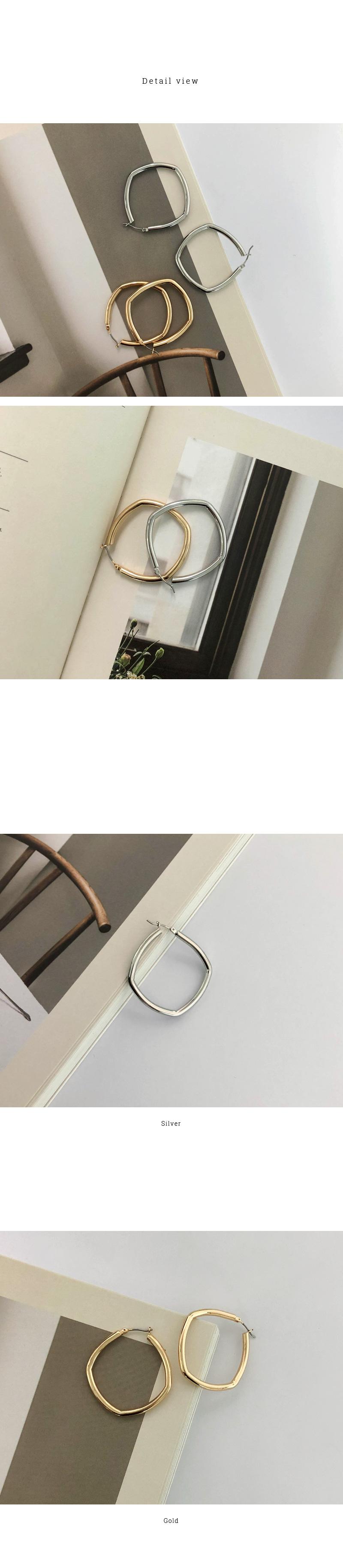 빅 스퀘어 이어링 (2colors)